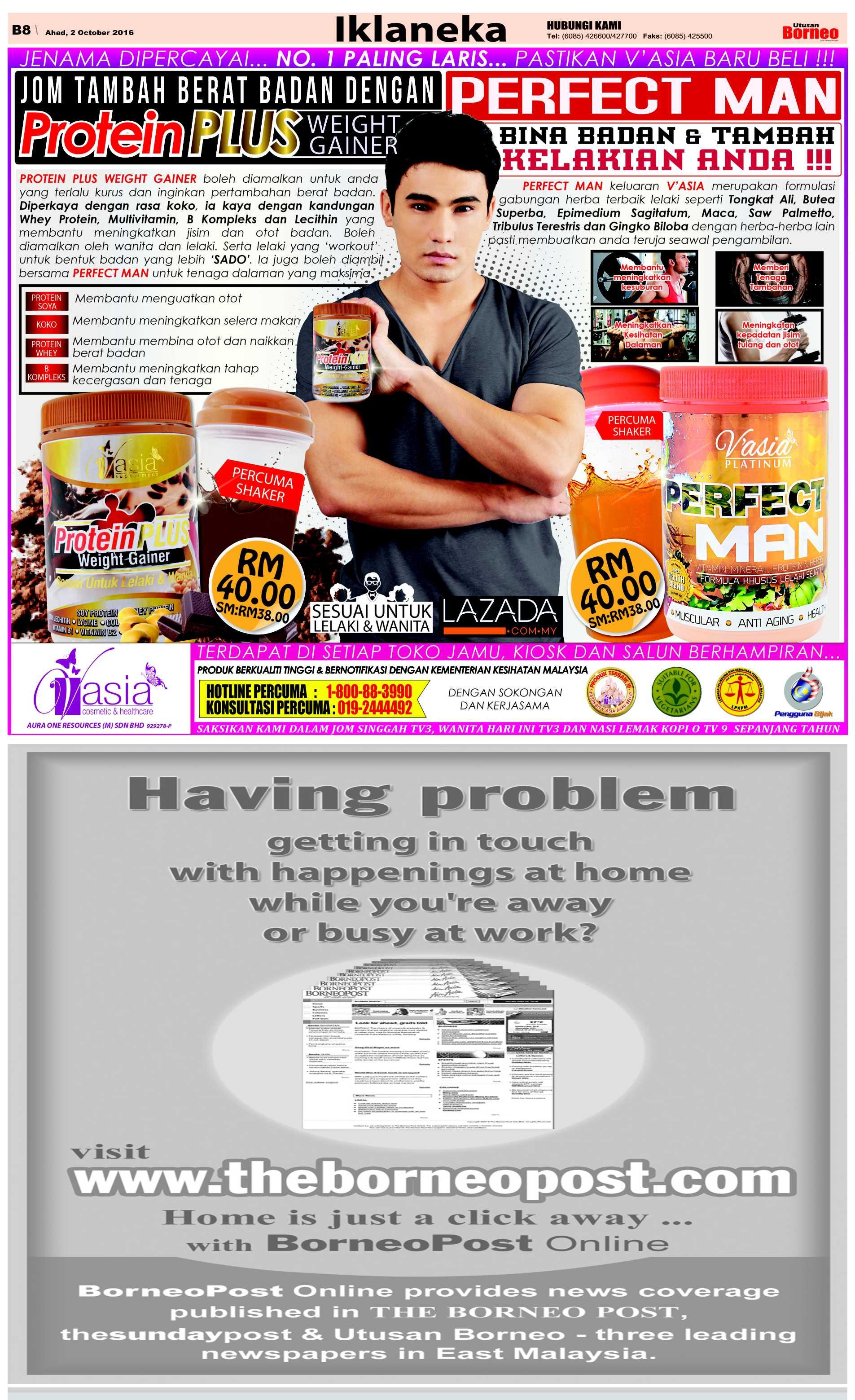 Sunday - Oct 2 | The Borneo Post Classifieds