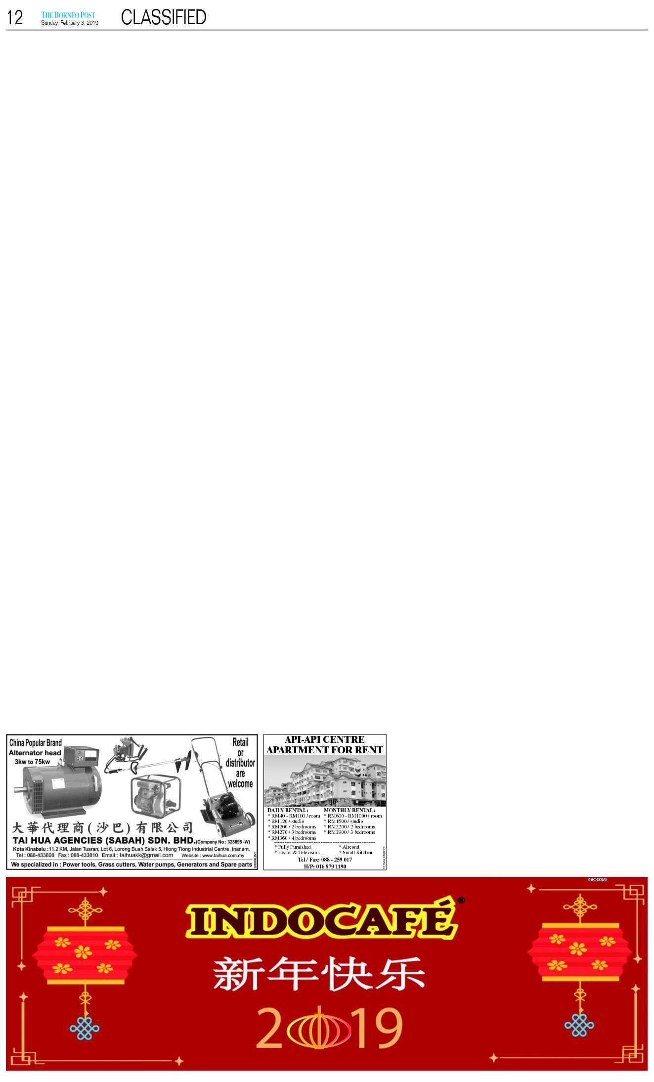 The Borneo Post   The Borneo Post Classifieds