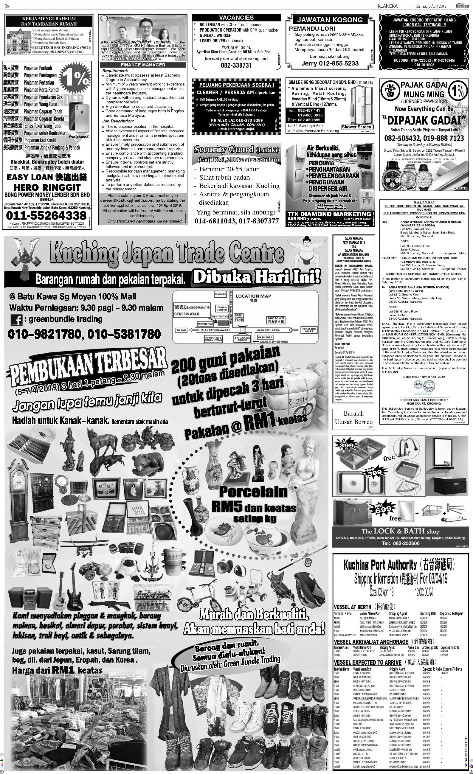 Friday - Apr 5 | The Borneo Post Classifieds