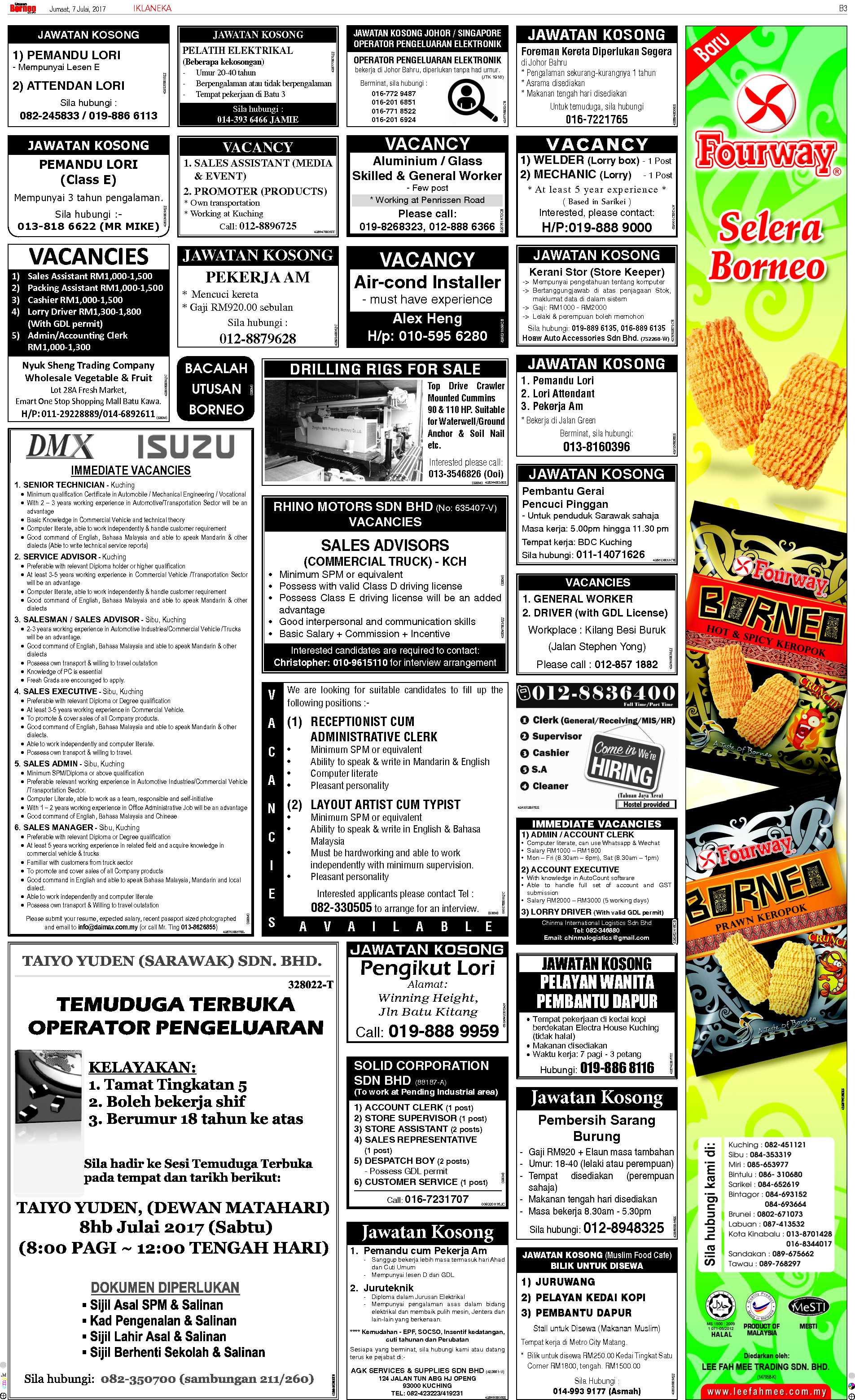 Kuching | The Borneo Post Classifieds